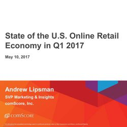 comScore:2017年第一季度美国网络零售业报告