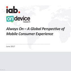 IAB:2017移动消费体验全球视角