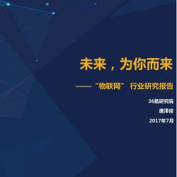 36氪研究:2017物联网行业研究报告
