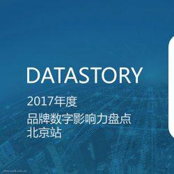 DataStory:2017年度品牌数字影响力盘点