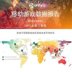 Untiy:2016年Q3移动游戏数据报告