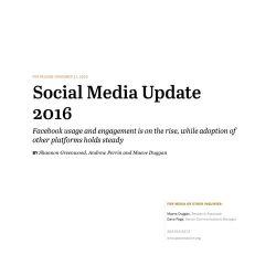 2016年美国社交平台使用状况