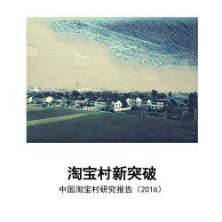 阿里研究院:中国淘宝村研究报告(2016)