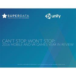 SuperData&Unity:2016年全球移动VR游戏回顾