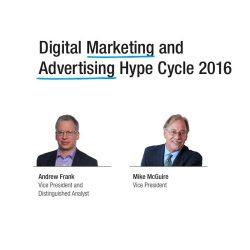 Gartner:2016年数字营销和广告炒作周期