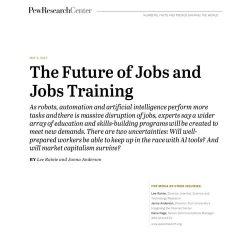 皮尤研究中心:未来工作与职业培训