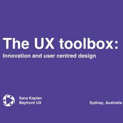 Bayfront UX总裁:UX工具箱(The UX toolbox)