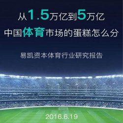 易凯资本:2016体育行业研究报告