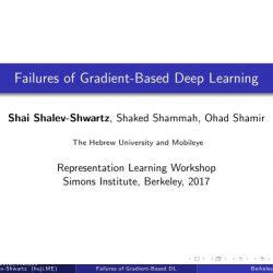 Shai Shalev-Shwartz:基于梯度的深度学习的局限