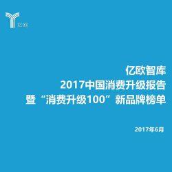 """亿欧智库:2017中国消费升级报告暨""""消费升级100""""新品牌榜单"""