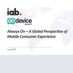 IAB:Always On – 2017全球移动体验研究报告