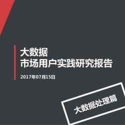 移动信息化研究中心:2017大数据市场用户实践研究报告