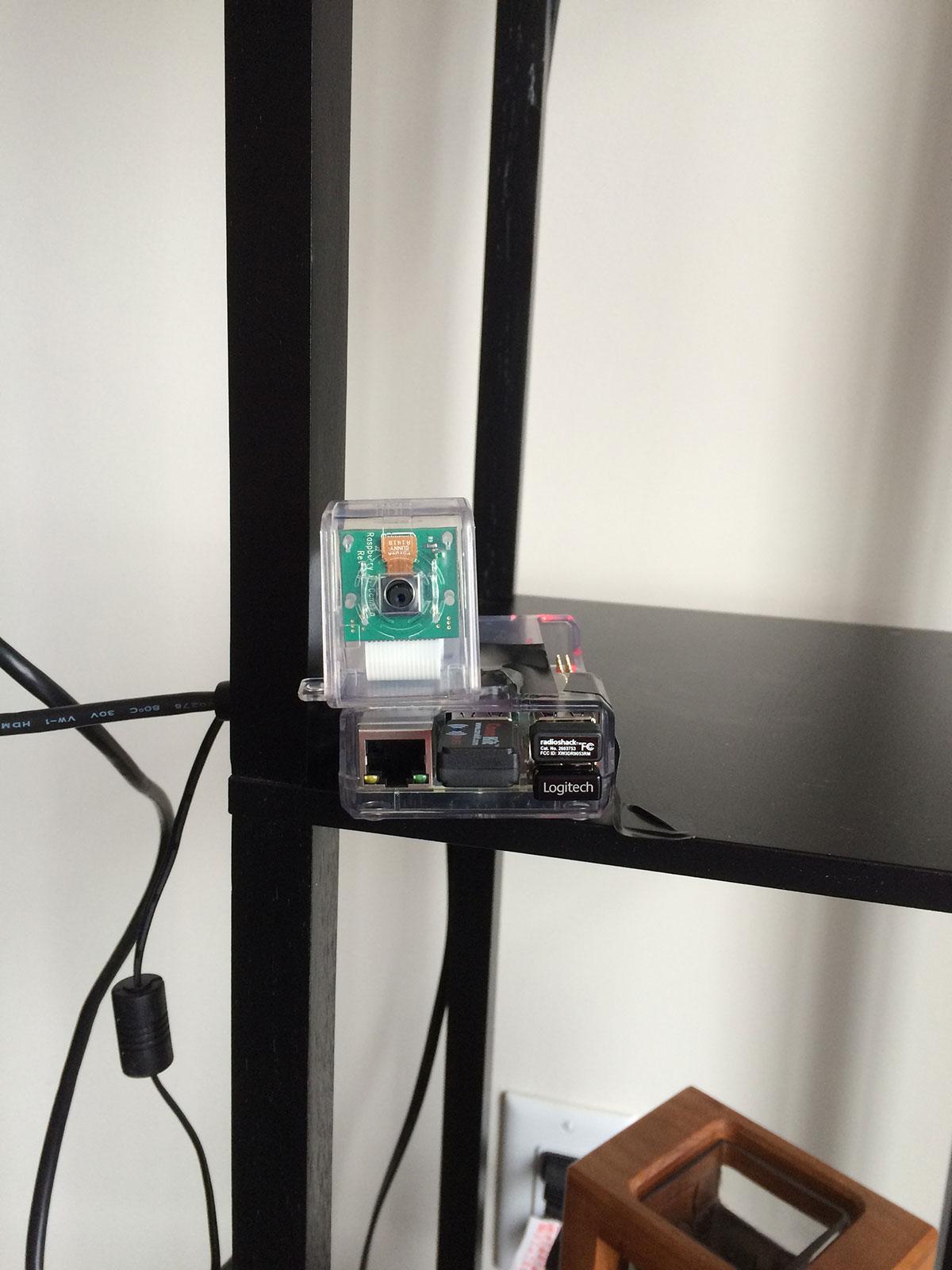 Figure 3: Example setup of my Raspberry Pi 2 and camera.