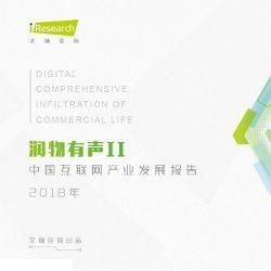 艾瑞:润物有声II——2018年中国互联网产业发展报告