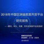 2018年中国区块链底层开放平台研究报告