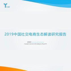 亿欧智库:2019中国社交电商生态解读研究报告