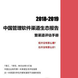 T研究:2018-2019中国管理软件渠道生态报告