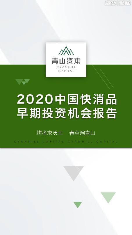 2020中国快消品早期投资机会报告
